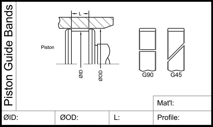 Piston Guide Bands